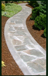 A great looking example of what custom curbing can do for you!
